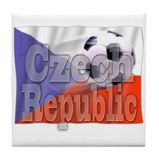 Soccer Flag Czech Republic Tile Coaster