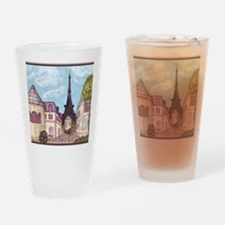 Paris Inspired Cityscape Eiffel Tow Drinking Glass