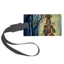Drummer Girl laptop Luggage Tag