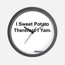 I yam 3 Wall Clock