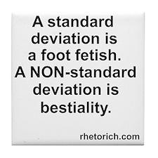 Standard Deviation 1 Tile Coaster