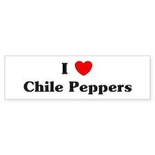 I love Chile Peppers Bumper Bumper Sticker