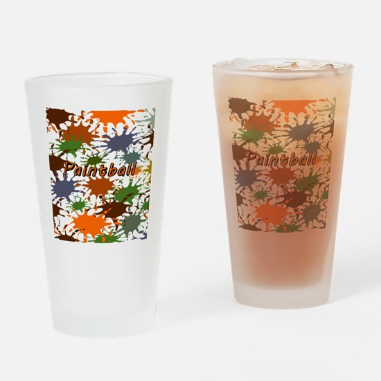 Fun Paintball Splatter Drinking Glass