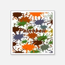 "Fun Paintball Splatter Square Sticker 3"" x 3"""