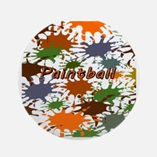 Fun Paintball Splatter Round Ornament