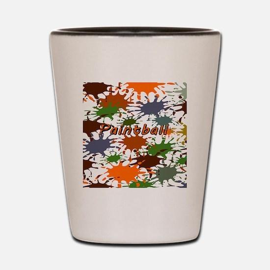 Fun Paintball Splatter Shot Glass