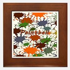 Fun Paintball Splatter Framed Tile
