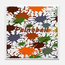 Fun Paintball Splatter Tile Coaster