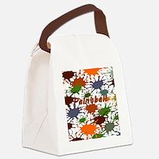 Fun Paintball Splatter Canvas Lunch Bag