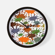 Fun Paintball Splatter Wall Clock