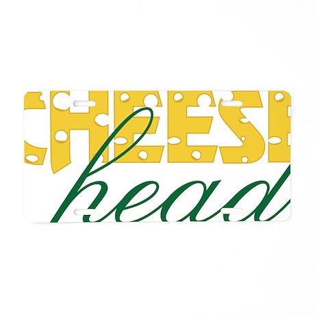 Cheese Head Aluminum License Plate
