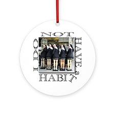 habit1 Round Ornament