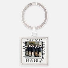 habit1 Square Keychain