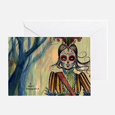 Drummer Girl toiletry bag Greeting Card