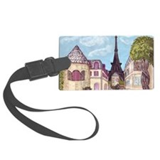 Paris Inspired Cityscape Lavende Luggage Tag