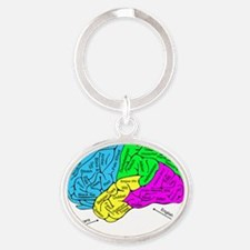 A Homebrewer's Brain Oval Keychain