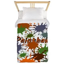 Fun Paintball Splatter Twin Duvet