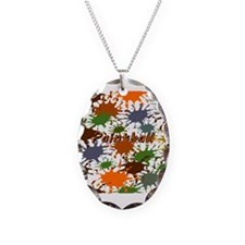 Fun Paintball Splatter Necklace Oval Charm