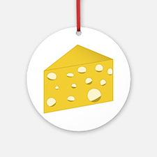 Swiss Cheese Round Ornament