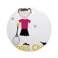 Tennis Chick Round Ornament