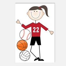 Female Athlete Postcards (Package of 8)