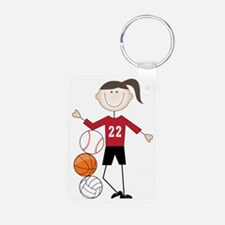 Female Athlete Keychains