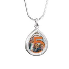harold lloyd Silver Teardrop Necklace