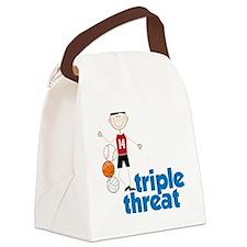 Triple Threat Canvas Lunch Bag