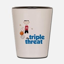 Triple Threat Shot Glass