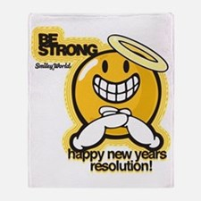 Be Strong Smiley Throw Blanket