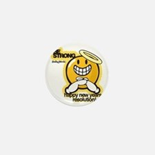 Be Strong Smiley Mini Button