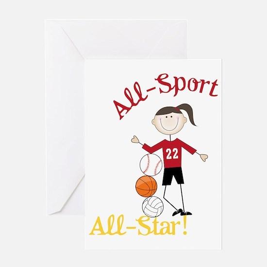 All Star Greeting Card
