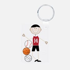 Male Athlete Keychains