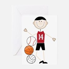 Male Athlete Greeting Card
