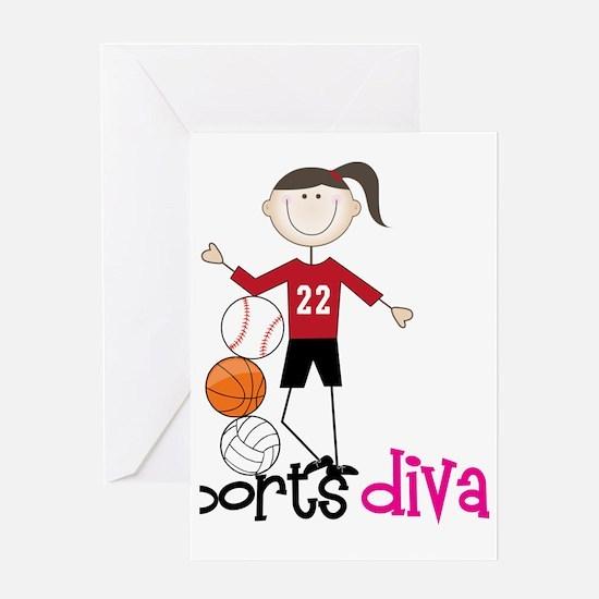 Sports Diva Greeting Card
