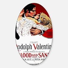 rudolph valentino Sticker (Oval)
