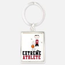 Extreme Athlete Portrait Keychain