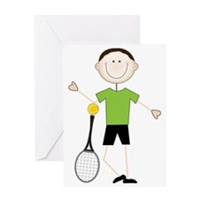 Male Tennis Player Greeting Card
