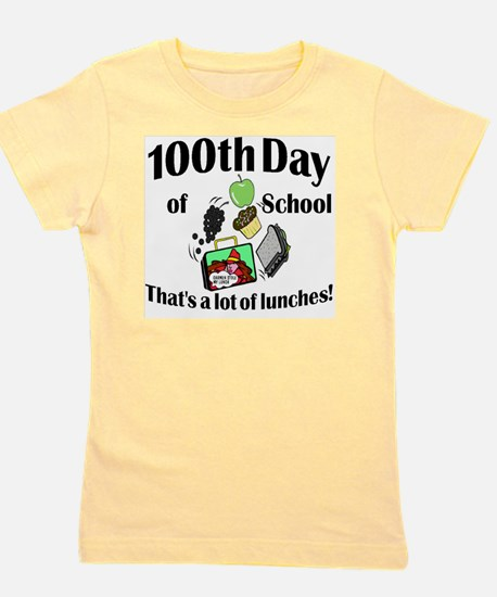 100th Day Lunches Girl's Tee