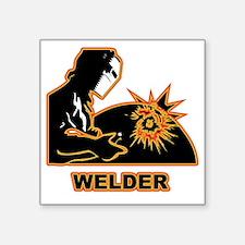 "Welders Square Sticker 3"" x 3"""