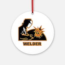 Welders Round Ornament