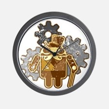 Steampunk Android (used-Look) Wall Clock