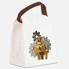 Steampunk Android (used-Look) Canvas Lunch Bag