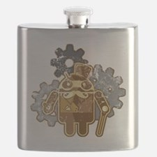 Steampunk Android (used-Look) Flask