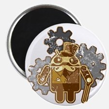 Steampunk Android (used-Look) Magnet