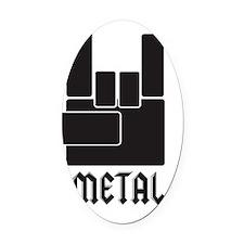 metal_shirt-01 Oval Car Magnet