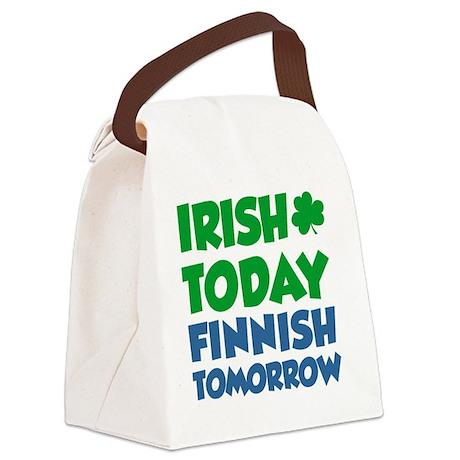 Irish Today Finnish Tomorrow Canvas Lunch Bag