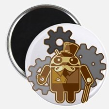 Steampunk Android Magnet