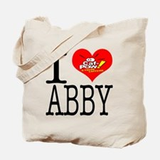 I Heart Abby and Caf-Pow of NCIS Fame Tote Bag