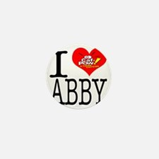 I Heart Abby and Caf-Pow of NCIS Fame Mini Button
